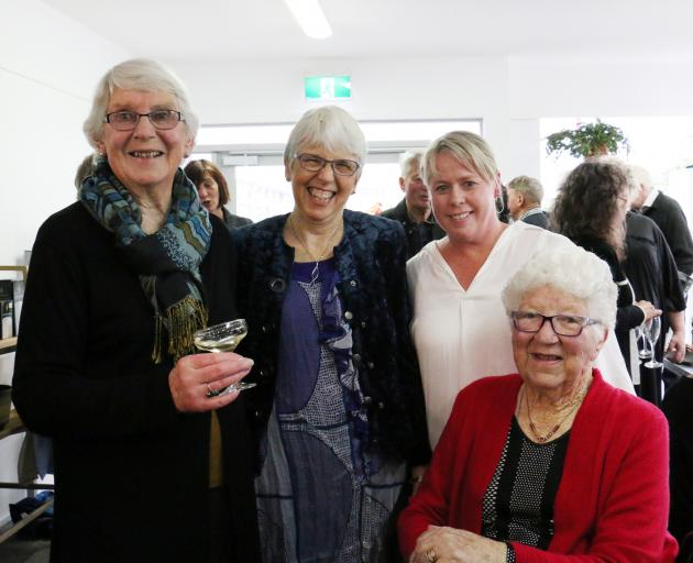 A bequest from late Totara farmer Nigel Wilson allowed Otago Community Hospice to buy a building in Thames St that is now home to Oamaru's North Otago Hospice Hub. At last night's grand opening are (from left) Mr Wilson's sister Ellen Muschamp, of Oamaru,