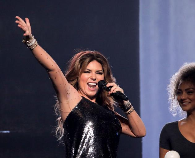 Shania Twain performs as part of her NOW tour at Spark Arena. Photo: Getty Images