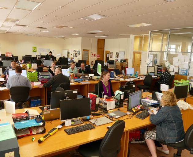 The Mycoplasma bovis response team's office in Invercargill. Photo: Ken Muir