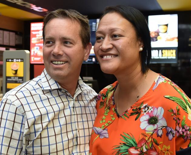 McDonald's owner-operators Justin and Eterei Stonelake, in their George St restaurant. PHOTO:...