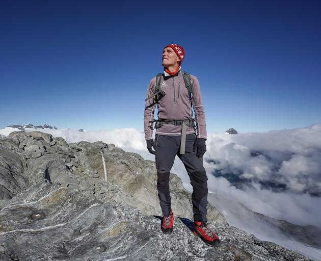 It was a long week for mountain guide Gavin Lang as he waited for over three days on Mt Aspiring to be rescued after suffering a leg injury. Photo: Supplied