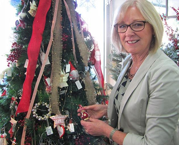Waitaki MP Jacqui Dean does a little Christmas shopping. Photo: Supplied