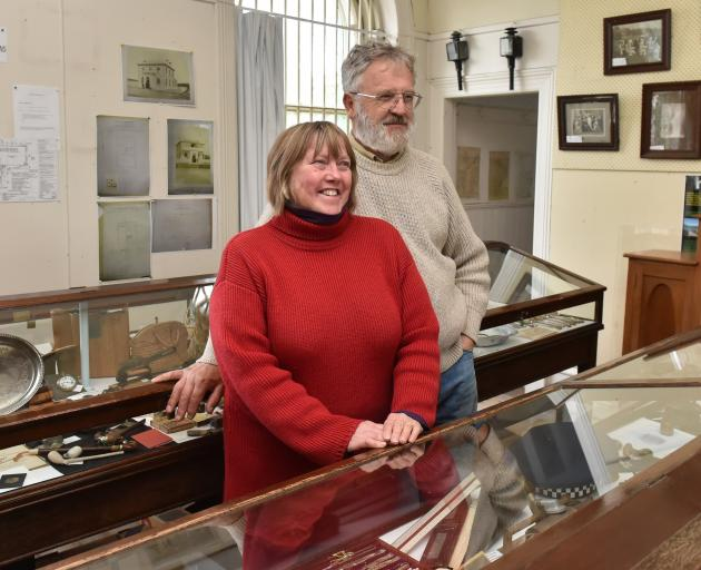 Waikouaiti Coast Heritage Centre curator Kay and chairman Bill Lang among the displays at the museum. Photos: Gregor Richardson