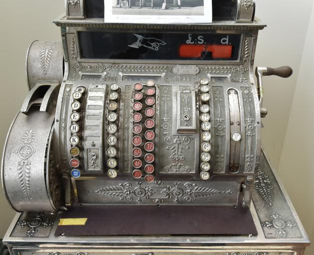 The cash register from Malloch's general store in Waikouaiti.
