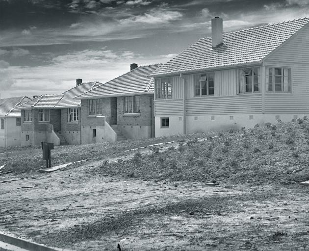New state houses in Corstorphone Rd. In 1948 the original tenants had just moved in and , while...