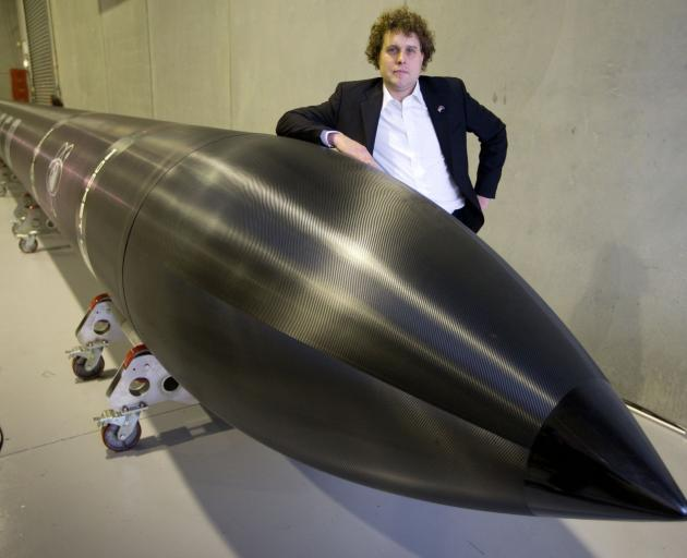 Rocket Lab chief executive Peter Beck at the unveiling in 2014 of  Electron,  the world's first...
