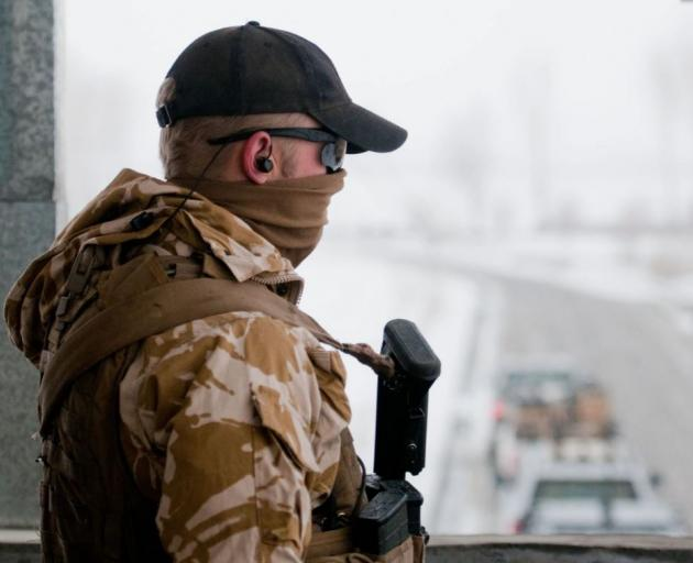 NZDF marksman on duty in Bamiyan, Afghanistan. Photo: Supplied