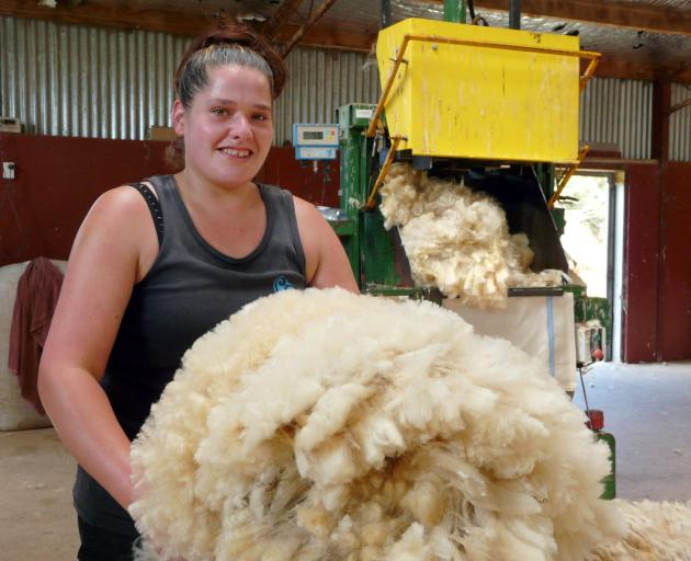 Davis Shearing woolhandler Cheri Peterson, of Milton, is aiming high at the regional champs in...