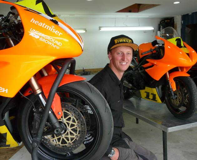New Zealand Supersport 600 Championship rider Seth Devereux, at home in his Tapanui workshop, hopes his technical insight can take him to the top of the sport. Photo: Richard Davison