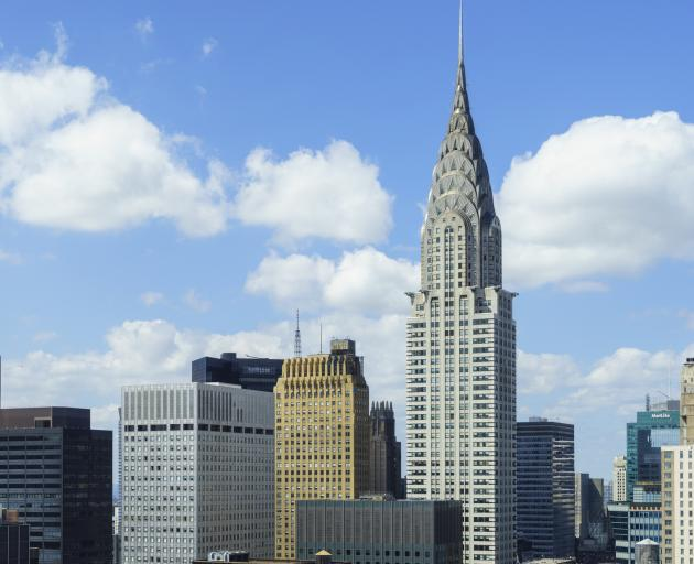 New York's iconic Chrysler Building (right) is to be put up for sale. Photo: Getty Images