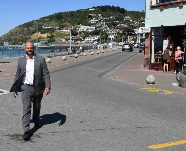 Dunedin city councillor Conrad Stedman wants to see cars removed from part of the Esplanade at St Clair. Photo: Stephen Jaquiery