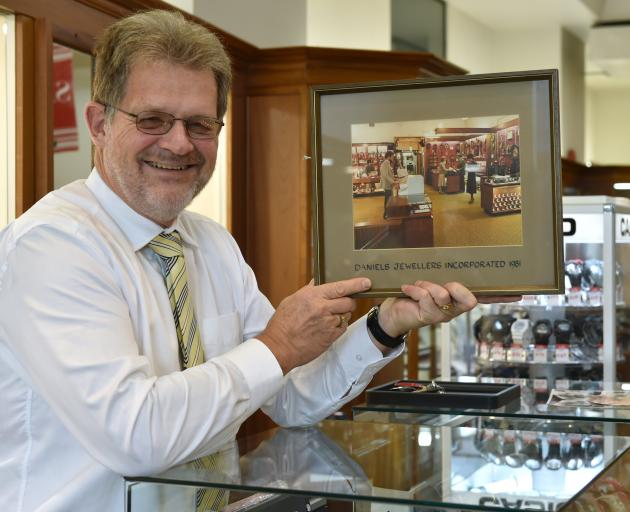 Brian Daniels is closing his well-known George St jewellery store and retiring. Photo: Gerard O...
