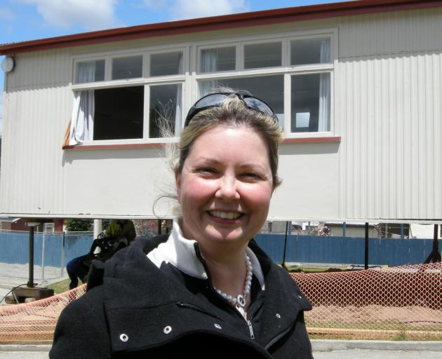 Gore Main School principal Mary Miller pictured with a new classroom in 2010. PHOTO: ALLIED PRESS...