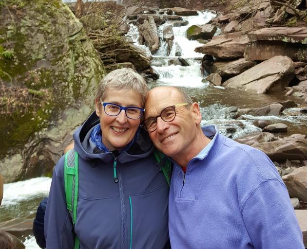 United States couple Nina Arron and Frank Buddingh. Photo: Luke Bremner