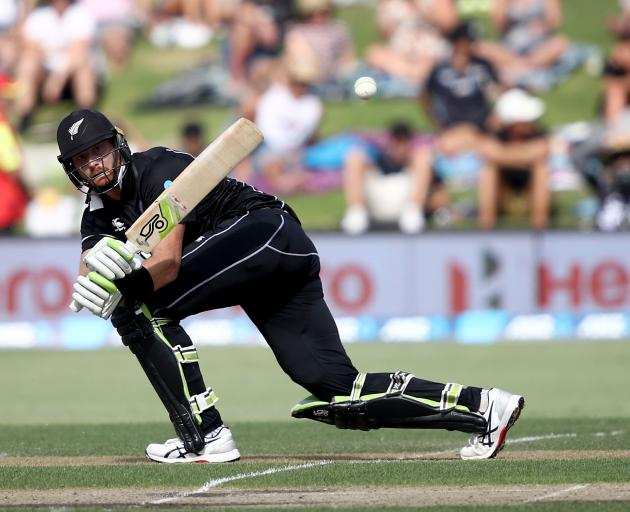 Martin Guptill clips the ball away during his faultless 138. Photo: Getty Images