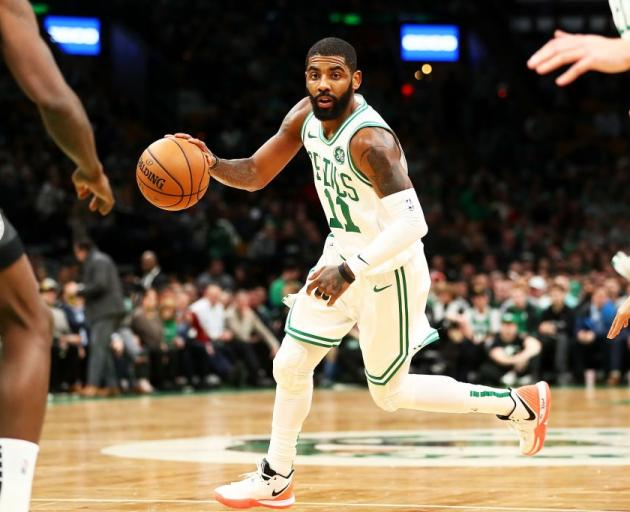 Boston Celtics guard Kyrie Irving during yesterday's match against the Brooklyn Nets. Photo:...