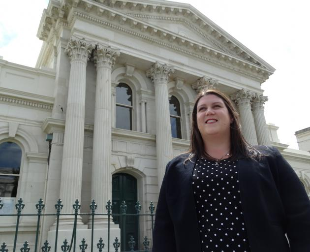 Despite practising law in Oamaru for six years, Dean & Associates solicitor Emma Middlemass will work in the historic courthouse for the first time today when court services return to the building for the first time since November 2011. Photo: Daniel Birc