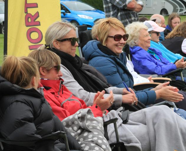 The hometown crowd cheers on North Otago at Milner Park on the fifth day of the 56th South Island...