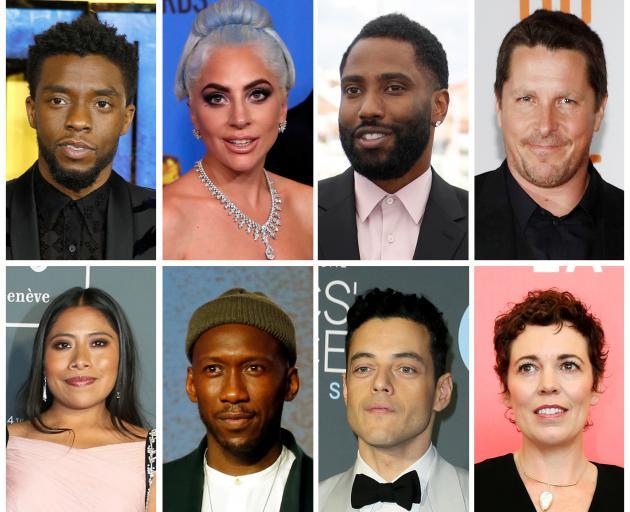 "Best picture Oscar nominees for the 91st Academy Awards (Top L-R) Boseman ""Black Panther"", Gaga ""A Star is Born"", Washington ""BlacKkKlansman"", Bale ""Vice"", Aparicio ""Roma"", Ali ""Green Book"", Malek ""Bohemain Rhapsody"", Colman ""The Favourite"". Photo: Reuter"