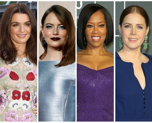 est supporting actress Oscar nominees for the 91st annual Academy Awards (L-R) Weisz, Stone, King, Adams and de Tavira (not pictured) . Photo: Reuters