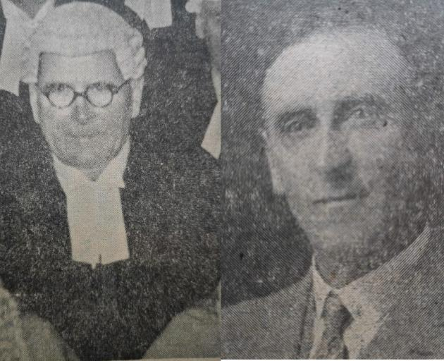 Well known Dunedin barrister James Ward (left) was killed after a parcel bomb was sent to his...