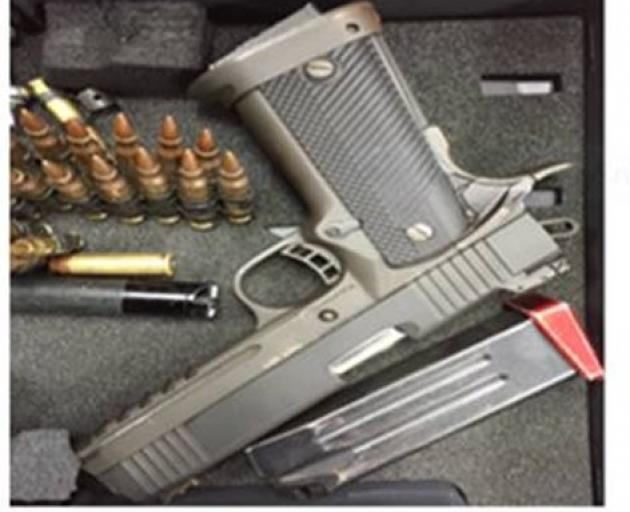 One of the guns taken in a Dunedin burglary in 2016. Photo: NZ Police