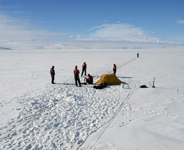 David Prior and his team are in Antarctica for a survey at the Priestley Glacier, some 400km from...