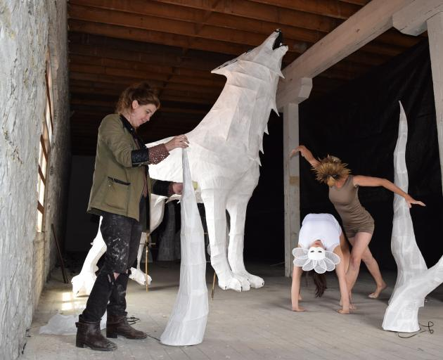Dunedin Midwinter Carnival Summer Lights (from left) artistic director Hannah Johnstone puts...