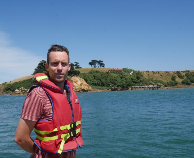 Quarantine Island keeper Dries Van den Broeck says living and working on the island is a ''once-in-a-lifetime experience''. Photo: Jessica Wilson