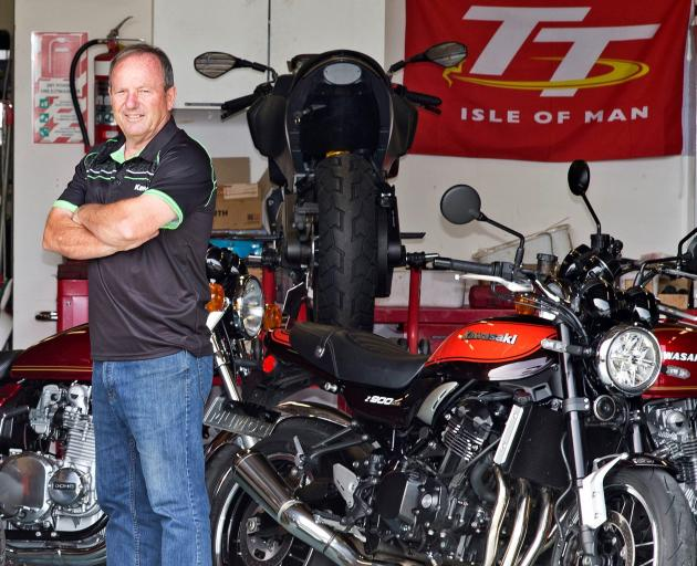 New Zealand  motorcycling legend Graeme Crosby (63),  pictured above with his Kawasaki,  urges...