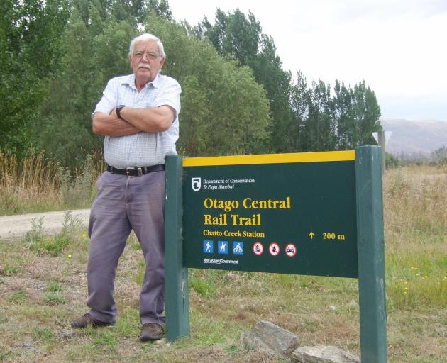 Vincent councillor James Armstrong is concerned about the Otago Central Rail Trail crossing at Chatto Creek. Photo: Adam Burns