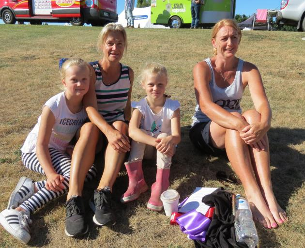Enjoying the sun, the fun and the equestrian events during the Maniototo A&P Show in Ranfurly...