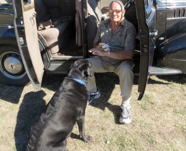 Winton Amies, of Naseby, and Ruby love spending time in his 80-year-old Pontiac 38 car. He had it...