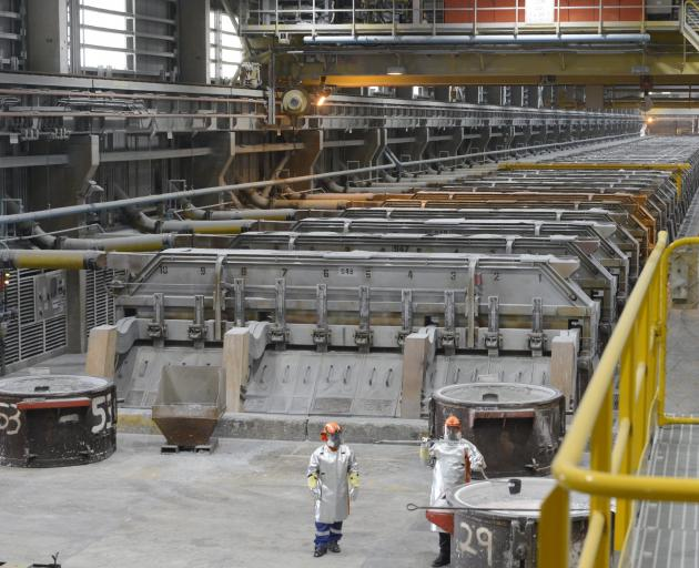 New Zealand Aluminium Smelter is restarting the fourth potline, which has been closed for six years, following a rise in metal prices, which could mean more product handling for South Port. Photo: Gerard O'Brien