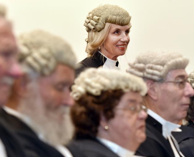 Anne Stevens QC is admitted to the inner bar along with fellow Queen's Counsels (from left) Colin...