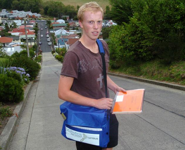 Census field worker Em Oysten delivers forms for the 2006 Census. Photo: ODT files