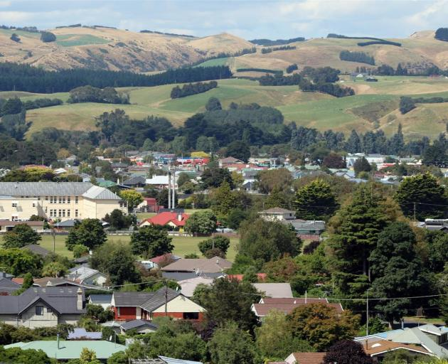Although Southland is the most affordable place in the country, Invercargill led the way in the percentage gain in annual price growth, according to Quotable Value, up 12.2%, followed by Gore (pictured yesterday) and Nelson, both at 9.2%. Gore's house val