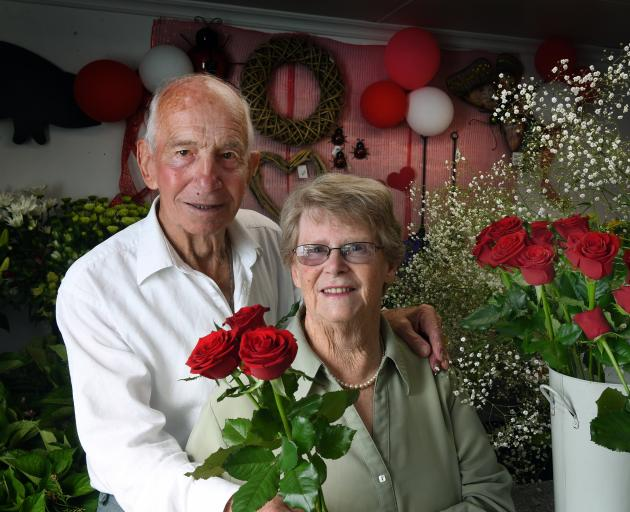 John and Andrena Hattrill, of Owaka, celebrate 60 years of marriage this Valentine's Day. Photo: Stephen Jaquiery