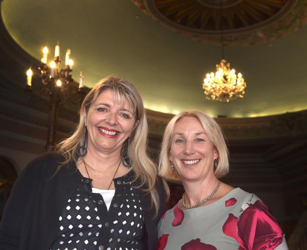iD Dunedin Fashion Week co-chairwomen Margo Barton (left) and Sally Peart at the venue for this...