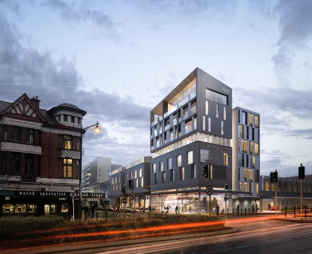 An artist's impression of the Invercargill Licensing Trust's proposed $40million inner-city hotel...