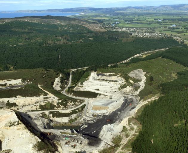 The Kai Point Coal Company's present day, open cast workings, where health and safety is...