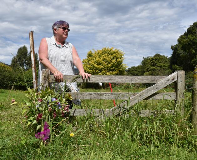 Flowers were left beside the Waitati paddock in which miniature horse Star was attacked - the...