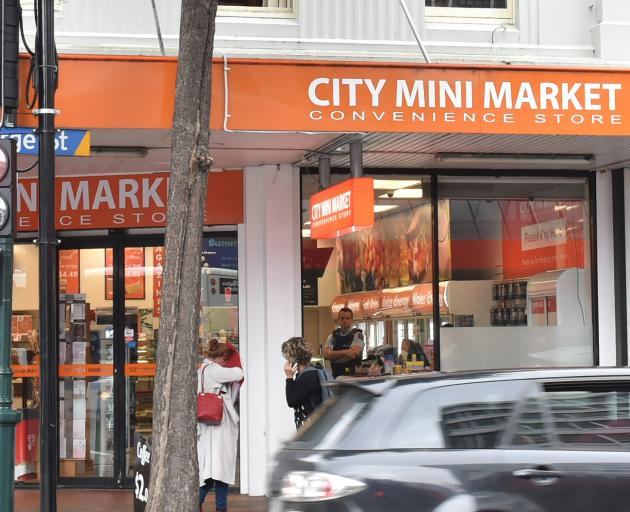 Dunedin police were called to City Mini Market on George St this afternoon. Photo: Gregor Richardson