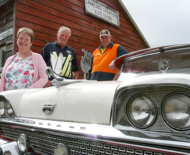 Lawrence Show & Shine organising team members Bill Bazley (centre), and Viv and Rob Warhurst,...