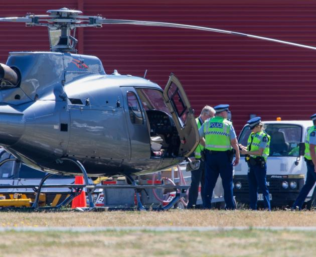 Queenstown Airport police and management were called to help settle a civil dispute at the Heli...