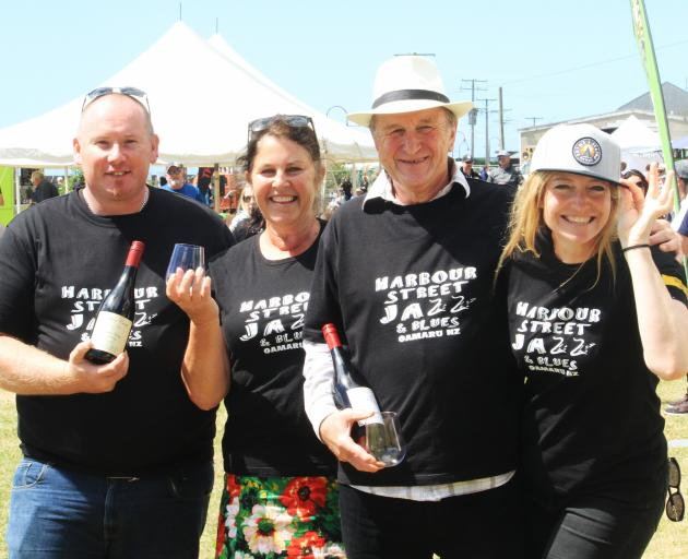 Soaking up the sun and atmosphere at the Cheers to Beers and Wine Festival at Oamaru Harbour on...