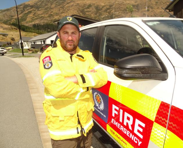 Queenstown firefighter Bobby Lamont is back from fighting a huge wildfire in Tasmania. Photo: Guy Williams