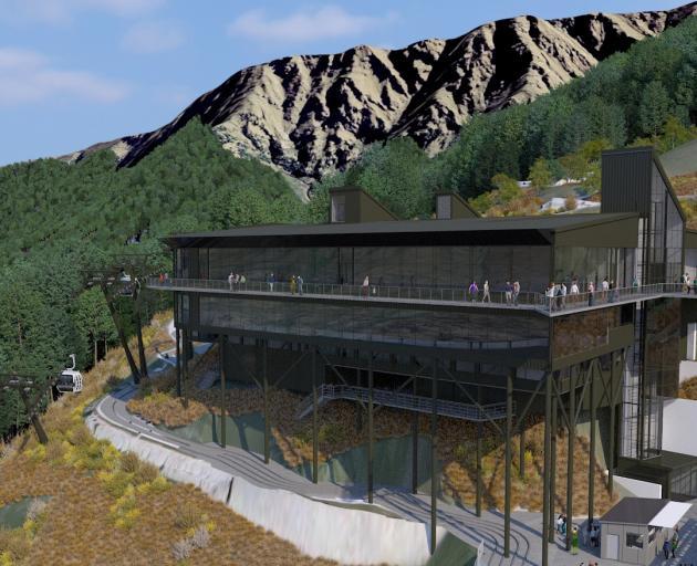 An artist's impression shows what Skyline Enterprises Ltd's redeveloped upper terminal at Bob's Peak will look like on completion. Images: Skyline Enterprises