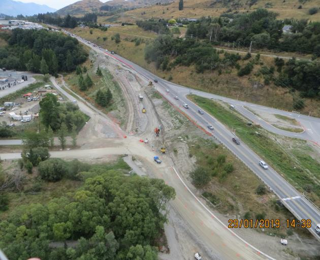 The NZ Transport Agency hopes asphalt will be laid on a new underpass and slip road at the...