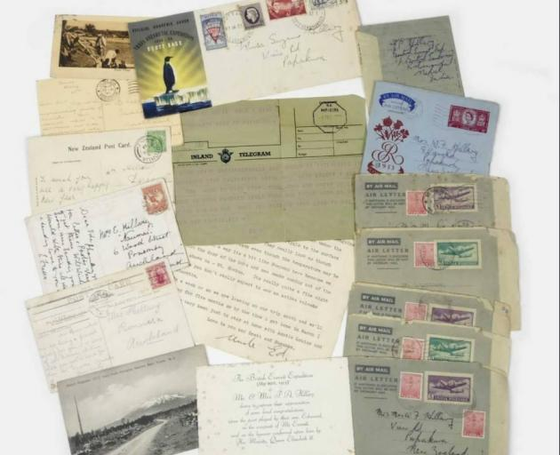 A collection of letters and postcards from Sir Edmund Hillary to his family, due to go under the...
